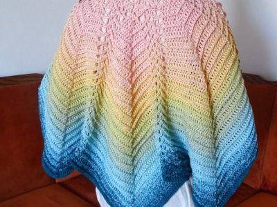 crochet Butterfly Ripple Shawl free pattern