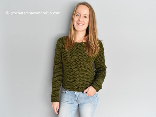 crochet Clara Sweater free pattern