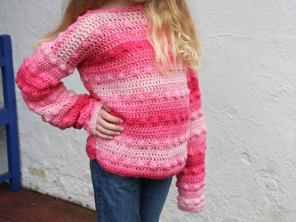 crochet Cosy Bobbled Jumper free pattern