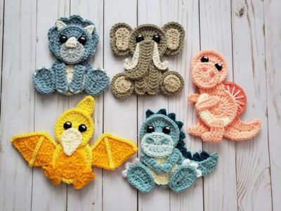crochet Crochet Jurassic Classic Applique easy pattern