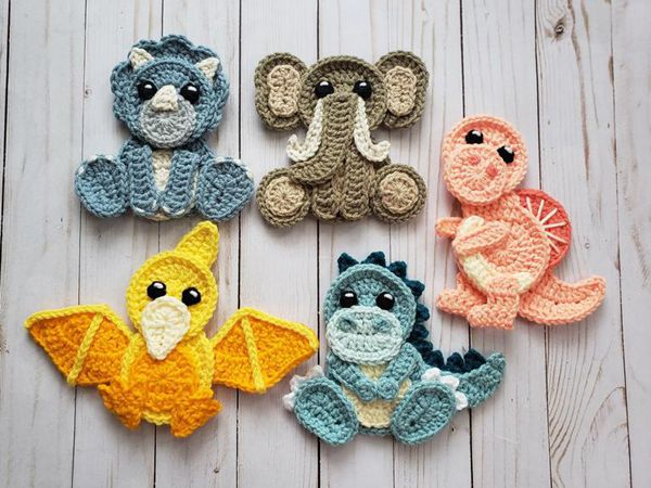 crochet Crochet Jurassic Classic Applique easy pattern