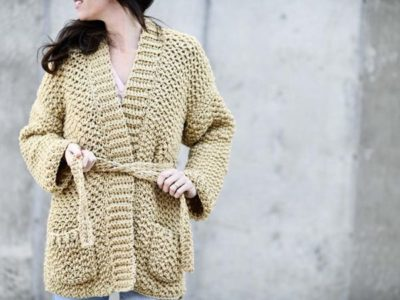 Crochet Sweater-Coat easy Pattern