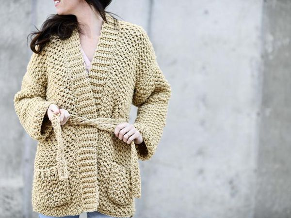 Crochet Sweater-Coat easy Pattern