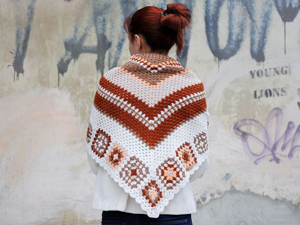 crochet Dosja Shawl easy pattern