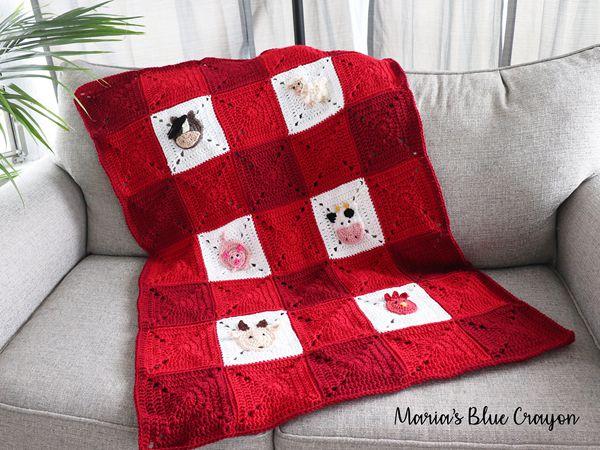 crochet Farm Blanket free pattern