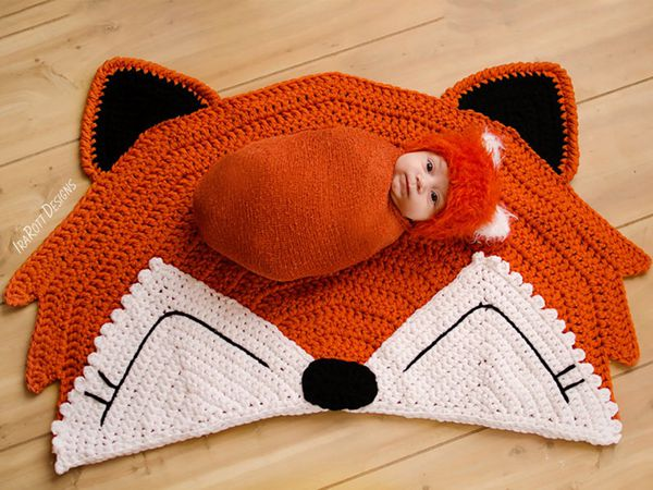 crochet Foxy Fox Rug free pattern
