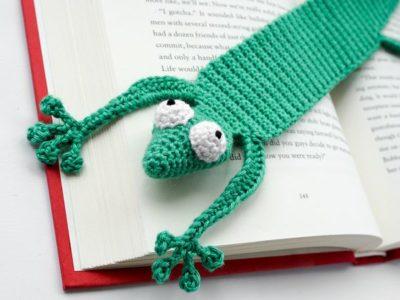 crochet Gecko Bookmark free pattern