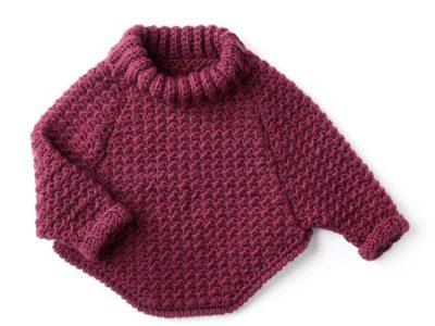 crochet KIDS CURVY COWL PULLOVER free pattern