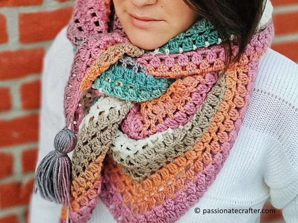 crochet Karly Wrap free pattern