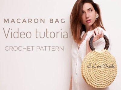 crochet Macaron Bag easy pattern