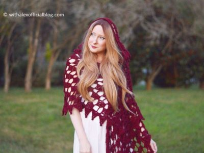 crochet Mary Hooded Shawl free pattern