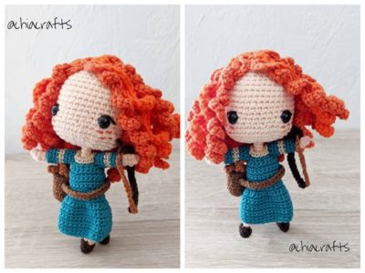 crochet Merida Princess Amigurumi free pattern