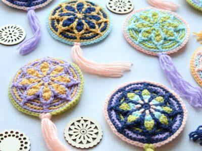 crochet Micro Rozeta free pattern