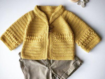 crochet Newborn Baby Cardigan easy pattern