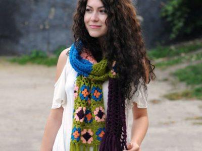 crochet OOAK Crochet Boho Scarf easy pattern