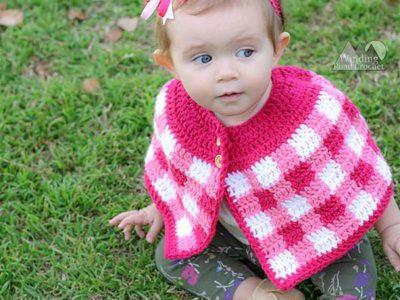 crochet Plaid Cape free pattern