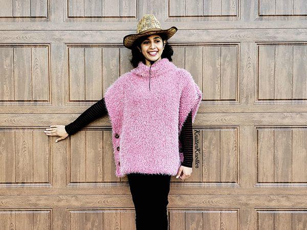 crochet Sparsh Poncho free pattern