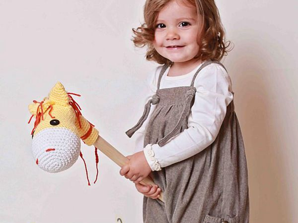 crochet Stick Horse easy pattern