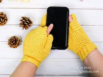 crochet Texting Mittens free pattern