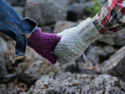 crochet Textured Hygge Mittens free pattern
