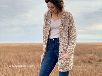 crochet The Coffeeshop Cardigan free pattern