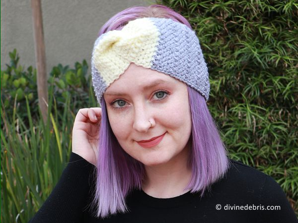 crochet Whitney Headband free pattern