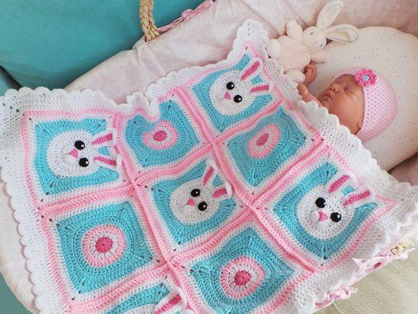 CROCHET Baby Bunny Crochet Blanket EASY PATTERN