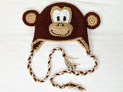 Crochet Monkey Hat 3D free pattern