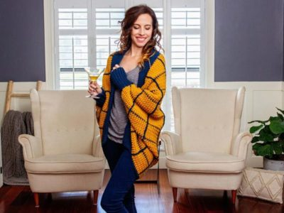 Windowpane Cocoon Crochet Wrap easy pattern