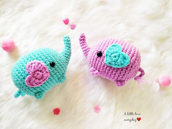 crochet Amigurumi Elephant free pattern