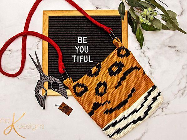 crochet Animal Print Crochet Bag free pattern