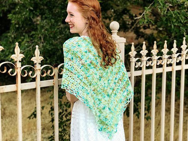 crochet Aspen Shawl free pattern