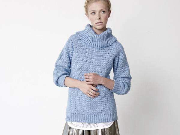 crochet EASY COWL NECK Sweater free pattern