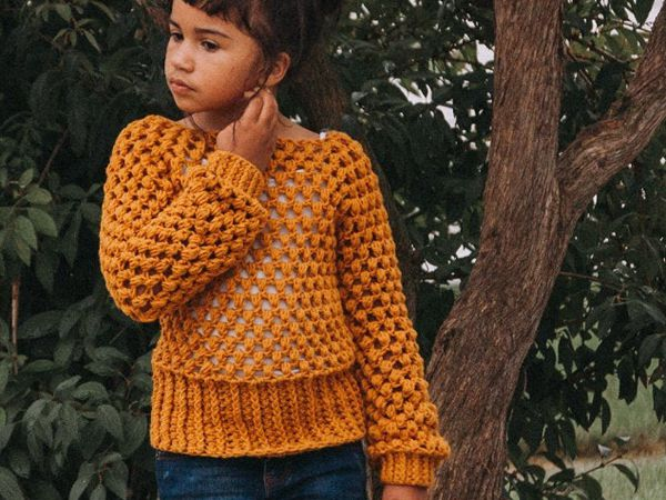 crochet Embrace the Change Sweater easy pattern