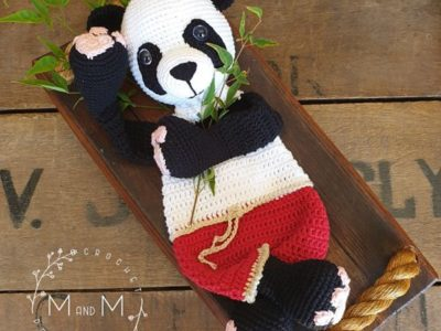 crochet Giant Panda Bear free pattern