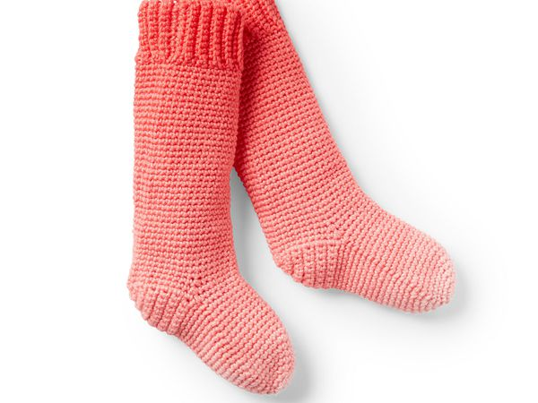 crochet KIDS CROCHET SLIPPER SOCKS free pattern