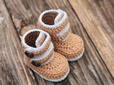 crochet Kohl Button Boot easy pattern