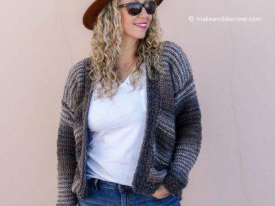 crochet Mercantile Cardigan free pattern