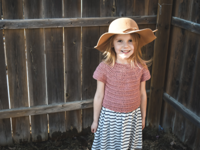 crochet Over The Top Crop free pattern