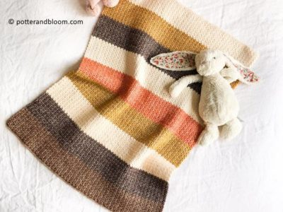 crochet Retro Roses Baby Blanket free pattern