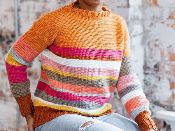 crochet Sedona Sweater free pattern