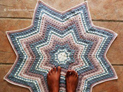 crochet Starlet Baby Blanket free pattern