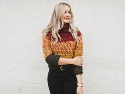 crochet The Autumn Stripes Raglan easy pattern