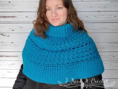 crochet The Dead of Winter Capelet free pattern