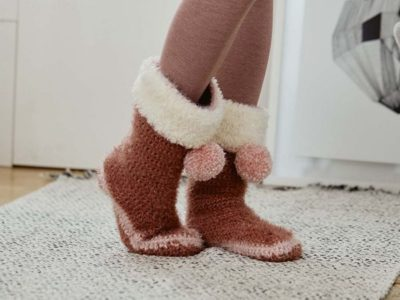 crochet Turn the Page Slippers free pattern
