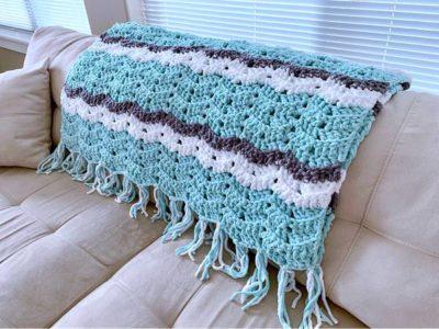 crochet Weekend Chevron Blanket free pattern