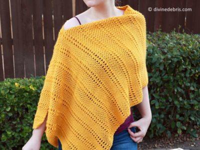 crochet Whitney Poncho free pattern