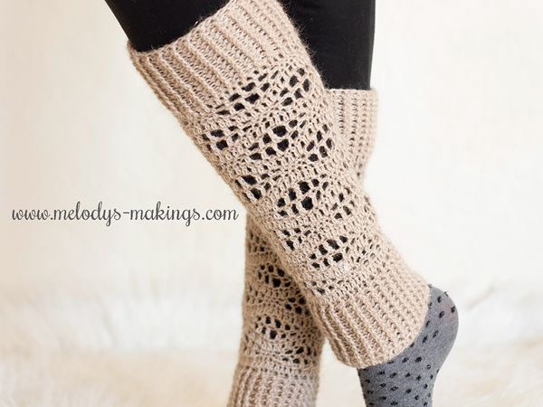 crochet Wisteria Leg Warmers free pattern