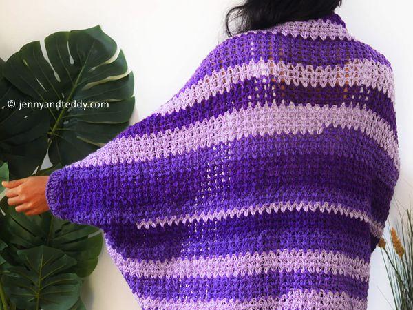 easy cocoon caridgan crochet free pattern