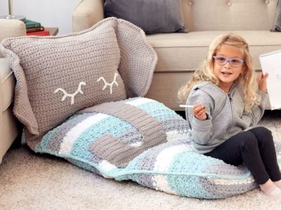CROCHET FUN FLOOR PILLOW free pattern